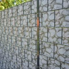 Zaun mit Sichtschutzstreifen